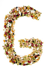 Letter G made of pulses