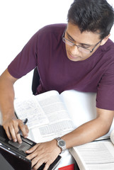 Young Guy Doing Assignment
