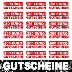 stempel eckig gutscheine 5-900 euro I