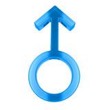 Glass male symbol