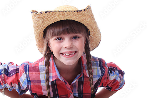 Close portrait of a cowgirl
