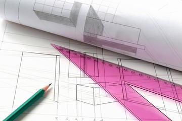 drawing, project,a  construction plan