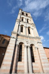 Ferrara cathedral tower, Italy