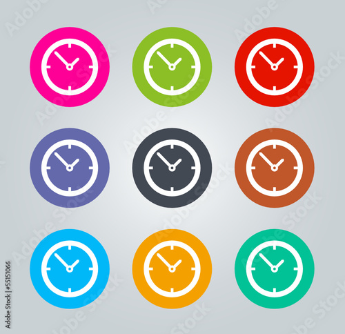 Clock - Metro clear circular Icons
