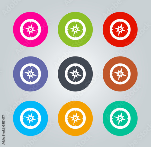 Compass - Metro clear circular Icons