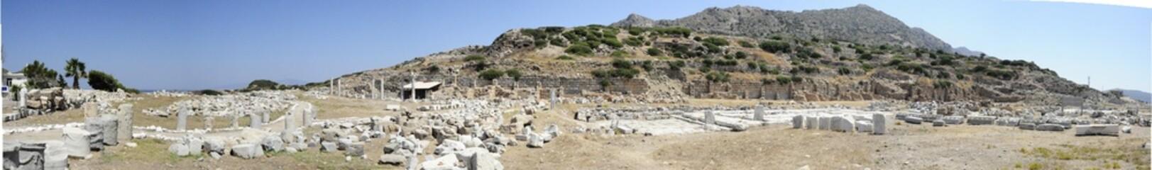 Panoramic Temple of Aphrodite, Knidos, Datca, Mugla, Turkey