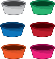 Empty bowl in various colors