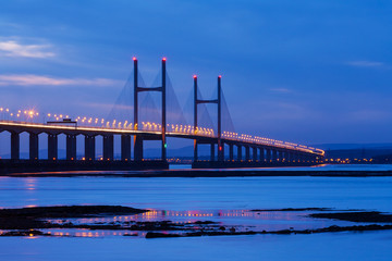 Severn Bridge at Night
