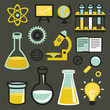 Vector flat icons - science and education