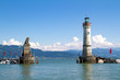 Harbour of Lindau in Lake Constance, Germany