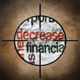 Decrease finance target poster