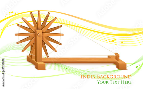 Spinning Wheel on India background