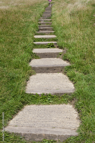 Steps Leading up to the Glastonbury Tor