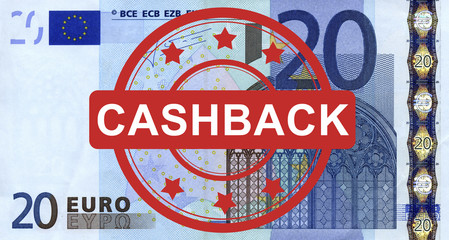 20 Euroschein mit Cashback Stempel