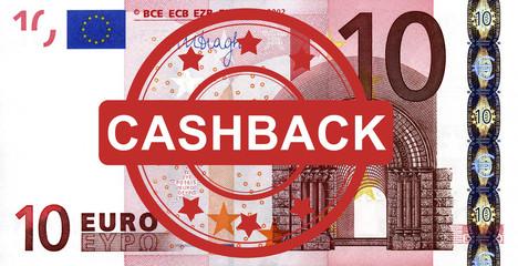 10 Euroschein mit Cashback Stempel
