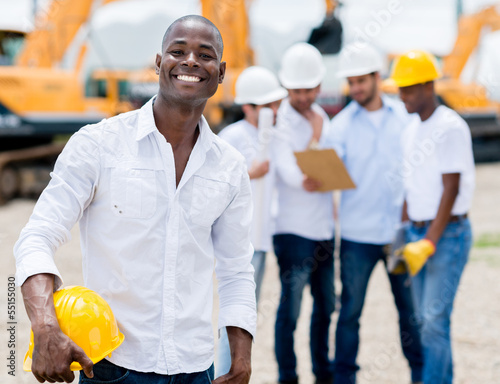Engineer at the construction site