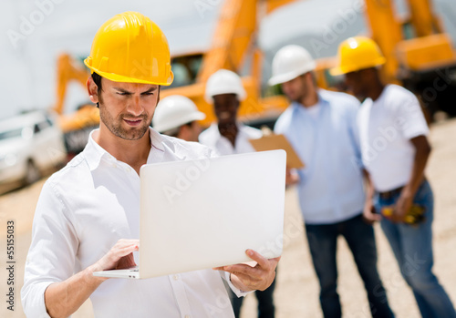 Engineer at a construction site