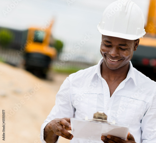 Civil engineer working
