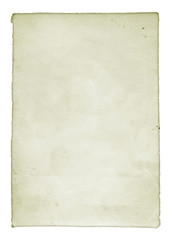 Isolated Old White Paper