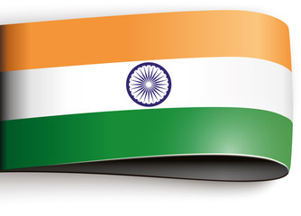 vector product label india flag