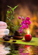 massage - bamboo - orchid, towels, candles , stones-vertical