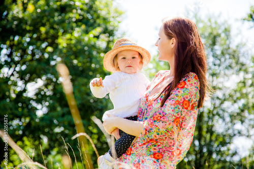 happy late summer mother with child