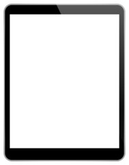 Black Tablet Pc With Blank Screen Isolated