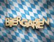Biergarten Holzschild Raute
