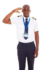 african pilot saluting