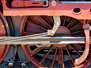 Steam Locomotive Red Wheel