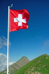 Fahne, Wind und Berge