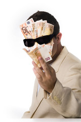 Businessman Banknotes Mask