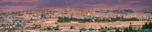 Plexiglas Midden Oosten Panorama of Jerusalem, Israel