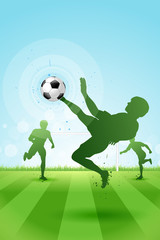 Soccer Background with three Players