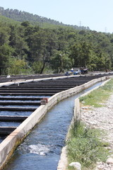 Trout farm in Turkey