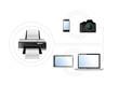 printing options. set of electronics. illustration