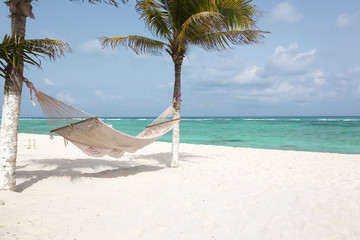 Paradise Caribbean beach in Mexico