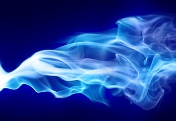 Bright blue smoke