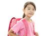 笑顔で通学する女の子