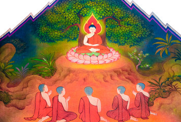 Buddha's teaching his 5 disciples