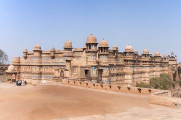Fort and Palace of India's Gwalior is built on a cliff.
