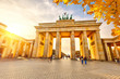 Brandenburg gate at sunset - 55164230