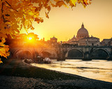 Fototapety St. Peter's cathedral at sunset, Rome