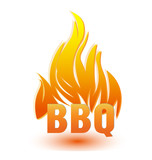 Hot barbecue logo illustration vector