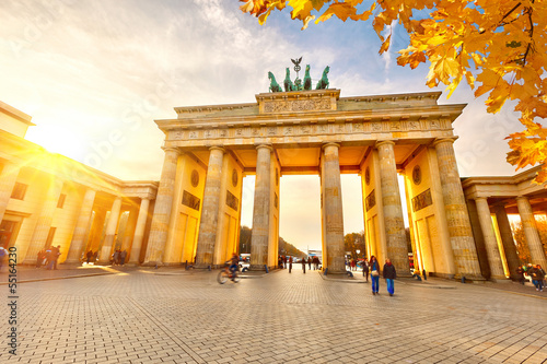 Brandenburg gate at sunset