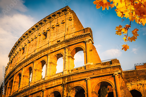 Colosseum at sunset - 55164231