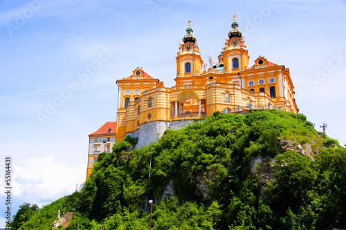 View of the historic Melk Abbey, Austria