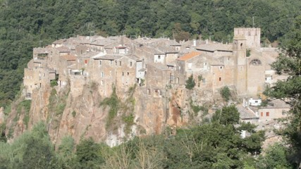ancient village overview, Calcata, Italy