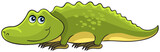 Crocodile. Cartoon african wild animal character