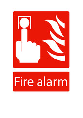 vector Fire Alarm Sign